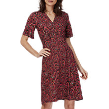 Buy Brora Liberty Jersey Wrap Dress, Hibiscus Paisley Online at johnlewis.com