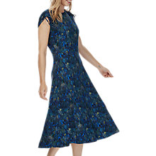 Buy Brora Liberty Print Jersey Midi Dress, Indigo Jungle Online at johnlewis.com