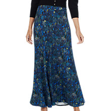 Buy Brora Liberty Print Maxi Skirt, Indigo Jungle Online at johnlewis.com