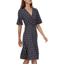 Buy Brora Liberty Jersey Wrap Dress, Navy Bird Online at johnlewis.com