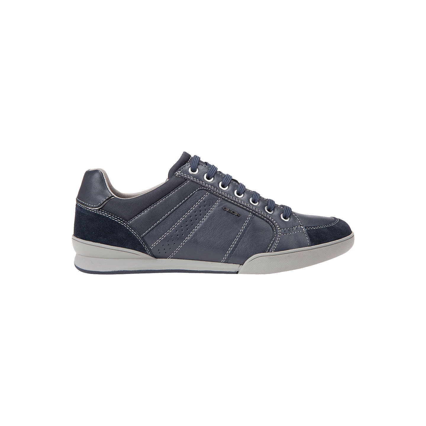 BuyGeox Kristof Trainers, Blue, 7 Online at johnlewis.com ...