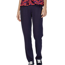 Buy Brora Tailored Jersey Trousers, French Navy Online at johnlewis.com