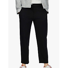 Buy Brora Wool Crepe Trousers, Black Online at johnlewis.com