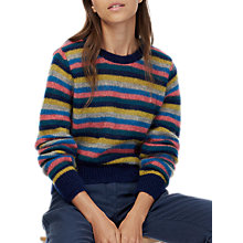 Buy Brora Mohair Striped Jumper, Ink Online at johnlewis.com
