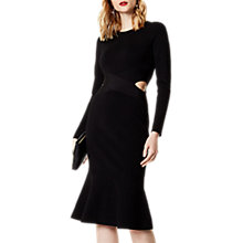 Buy Karen Millen Cut Out Flare Hem Dress, Black Online at johnlewis.com