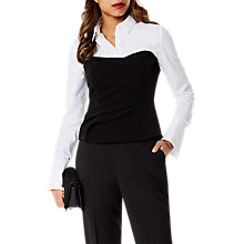 Buy Karen Millen Layered Corset Shirt, Black/White Online at johnlewis.com