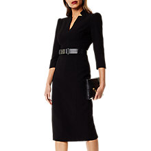 Buy Karen Millen Minimal Metal Dress, Black Online at johnlewis.com