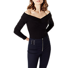 Buy Karen Millen Angled Bardot Top Online at johnlewis.com