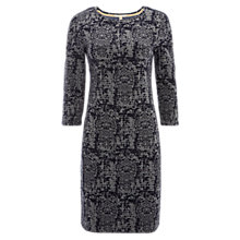 Buy White Stuff Rachael Jacquard Jersey Dress, Steel Blue Online at johnlewis.com
