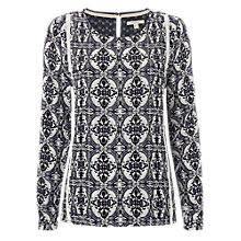 Buy White Stuff Carroll Print Top, Blue Online at johnlewis.com