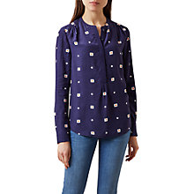 Buy Hobbs Charlie Floral Shirt, Blue/Multi Online at johnlewis.com