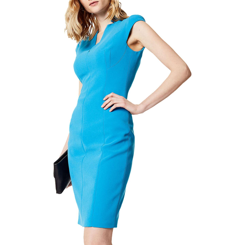 Karen Millen Tailored Pencil Dress, Blue at John Lewis