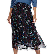 Buy Brora Liberty Midi Silk Skirt, Black Online at johnlewis.com