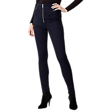 Buy Karen Millen Lace Detail Leggings, Denim Online at johnlewis.com