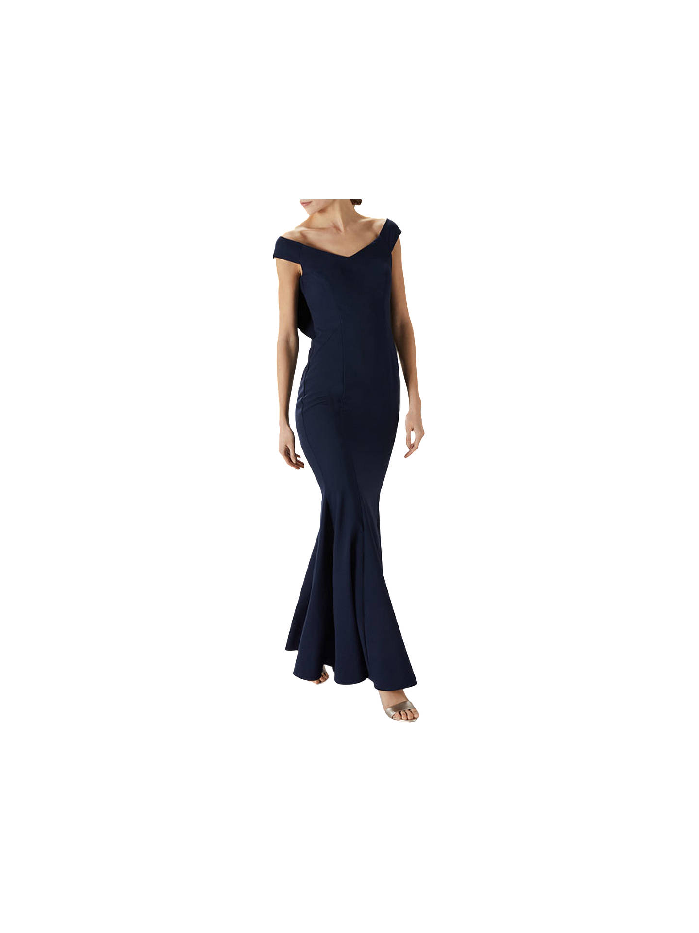 BuyCoast Mel Maxi Dress, Navy, 6 Online at johnlewis.com