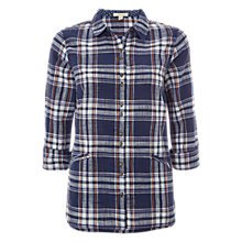 Buy White Stuff Brooklyn Check Shirt, Navy Online at johnlewis.com