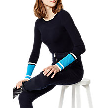 Buy Karen Millen Colourblock Ribbed Jumper, Blue/Multi Online at johnlewis.com
