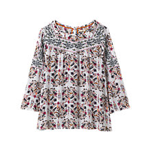 Buy White Stuff Jessa Embroidered Blouse, White/Multi Online at johnlewis.com