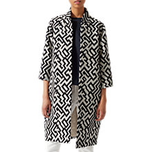 Buy Jigsaw Geo Edge To Edge Coat, Black Online at johnlewis.com