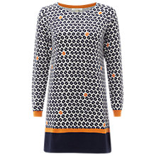 Buy White Stuff Coffee Bean Print Tunic, Navy Online at johnlewis.com