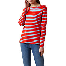 Buy Hobbs Constance Breton Top, Red/Blue Online at johnlewis.com