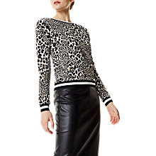 Buy Karen Millen Leopard Print Sweatshirt, Multi Online at johnlewis.com
