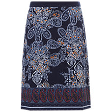 Buy White Stuff Paisley Park Jersey Skirt, Navy/Multi Online at johnlewis.com