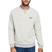Buy Barbour International Socket Crew Neck Sweatshirt, Pearl Online at johnlewis.com
