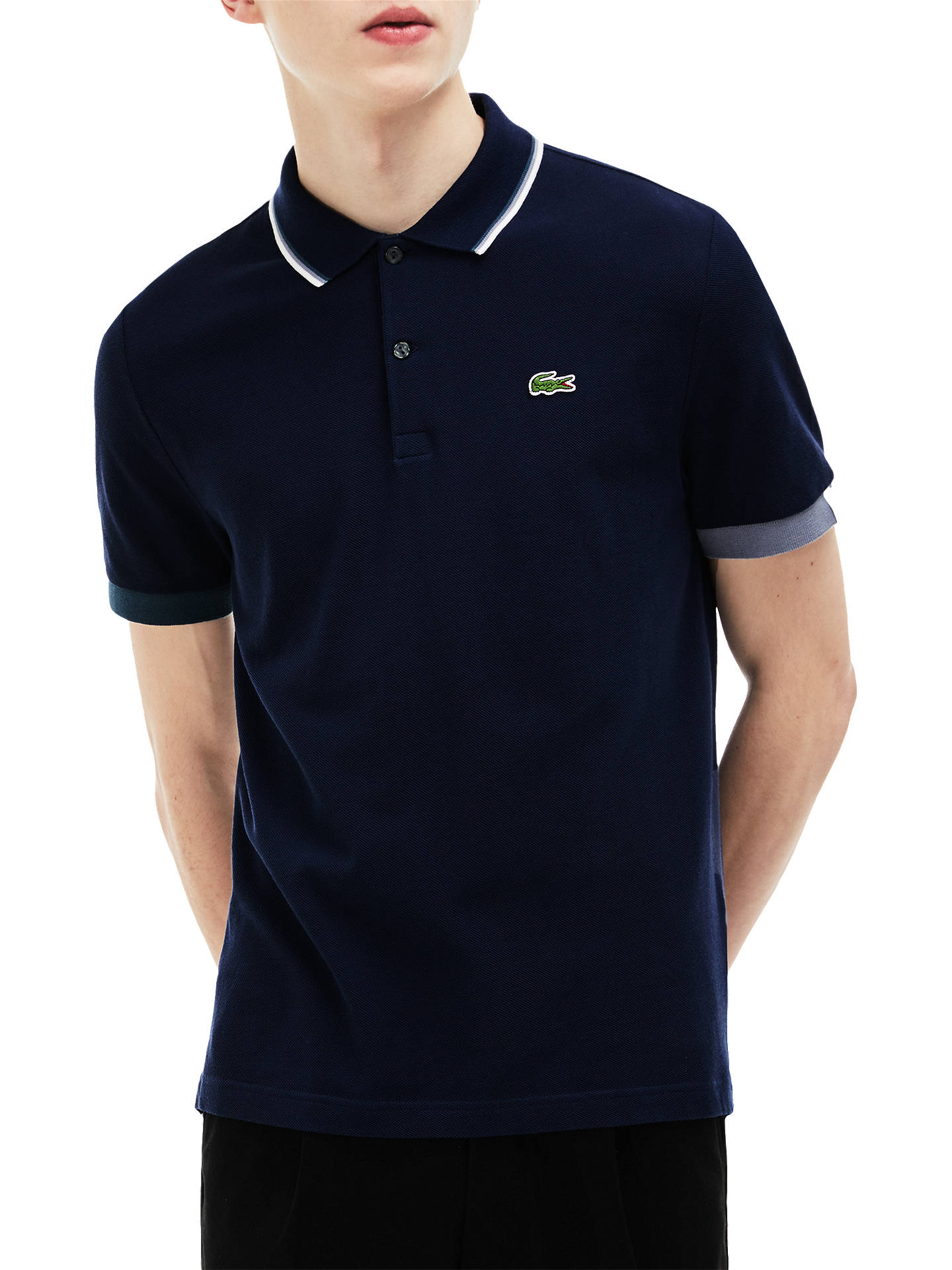 3b5c539b2bef Lacoste LIVE Slim Fit Ribbed Polo Shirt at John Lewis   Partners