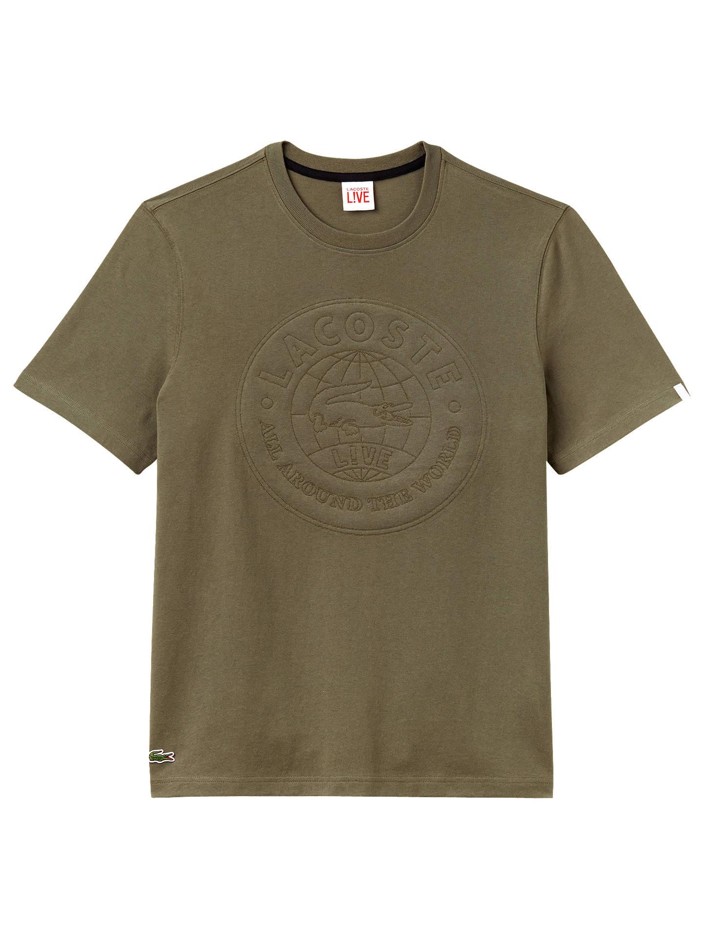 e58abe56a16024 Lacoste LIVE Large Logo Short Sleeve T-Shirt at John Lewis   Partners