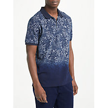 Buy Scotch & Soda Dip Dye Polo Shirt, Blue Online at johnlewis.com