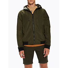 Buy Scotch & Soda Nylon Hooded Jacket, Military Online at johnlewis.com