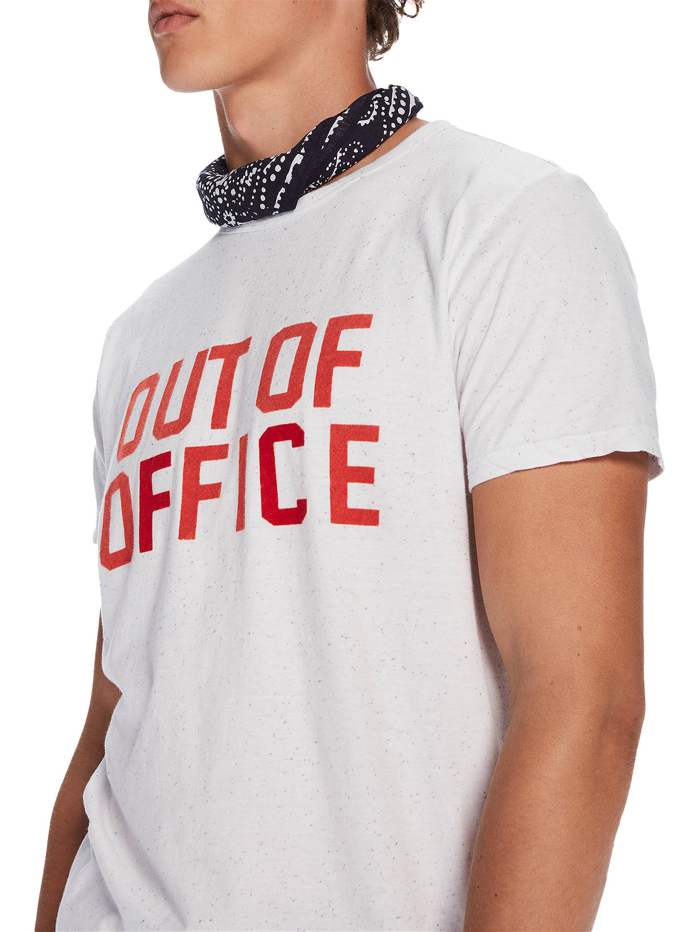 c87ffe950f23 Scotch & Soda Out Of Office T-Shirt, White at John Lewis & Partners