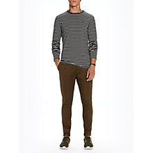 Buy Scotch & Soda Stripe Jersey Top, Navy/White Online at johnlewis.com