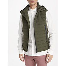 Buy Scotch & Soda Quilted Hooded Gilet, Military Online at johnlewis.com