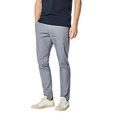 Buy Selected Homme Harval Check Slim Fit Trousers, Dark Navy Online at johnlewis.com