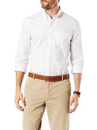Dockers Stretch Long Sleeve Oxford Shirt, Paper White