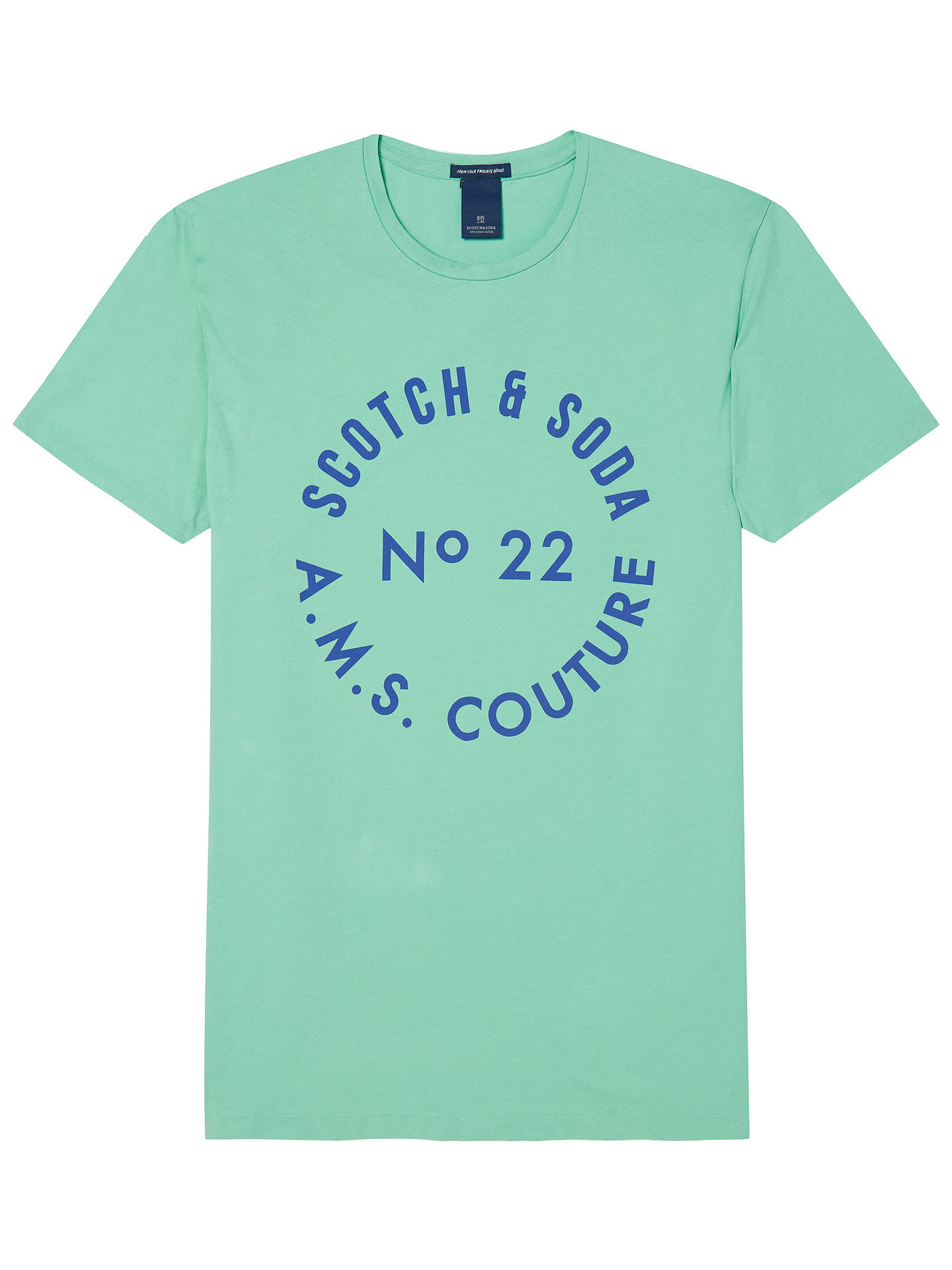 BuyScotch & Soda Graphic Print T-Shirt, Jade, S Online at johnlewis.com