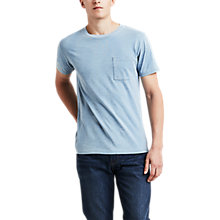 Buy Levi's Made & Crafted Short Sleeve Pocket T-Shirt, Washed Indigo Online at johnlewis.com
