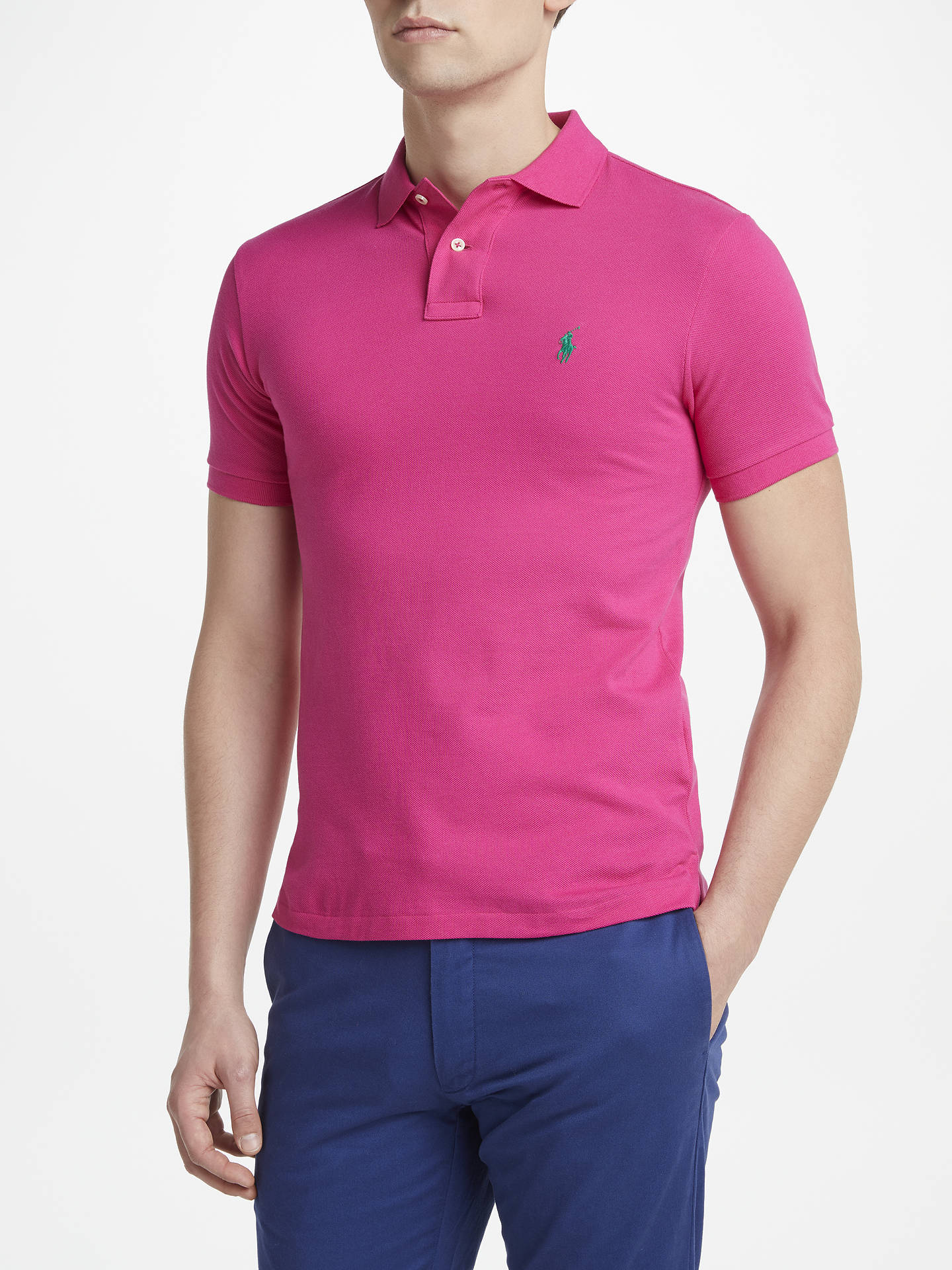 263f12bf Buy Polo Ralph Lauren Slim Fit Polo Top, Currant, S Online at johnlewis.