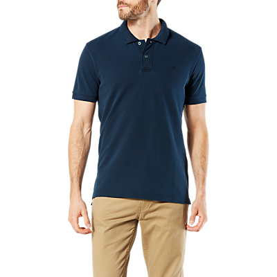 Dockers Garment Dyed Fitted Short Sleeve Polo Shirt