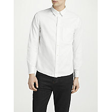 Buy J.Lindeberg David Long Sleeve Slim Fit Shirt, White Online at johnlewis.com
