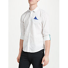 Buy Scotch & Soda Fixed Pocket Tab Sleeve Pattern Shirt, White/Multi Online at johnlewis.com