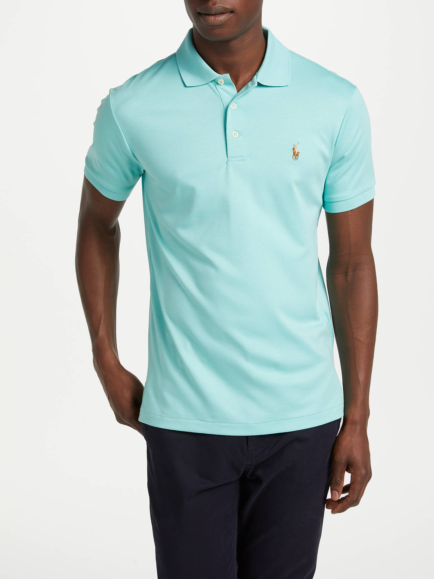 17598900217b88 Buy Polo Ralph Lauren Slim Fit Polo Shirt, Bayside Green, S Online at  johnlewis ...
