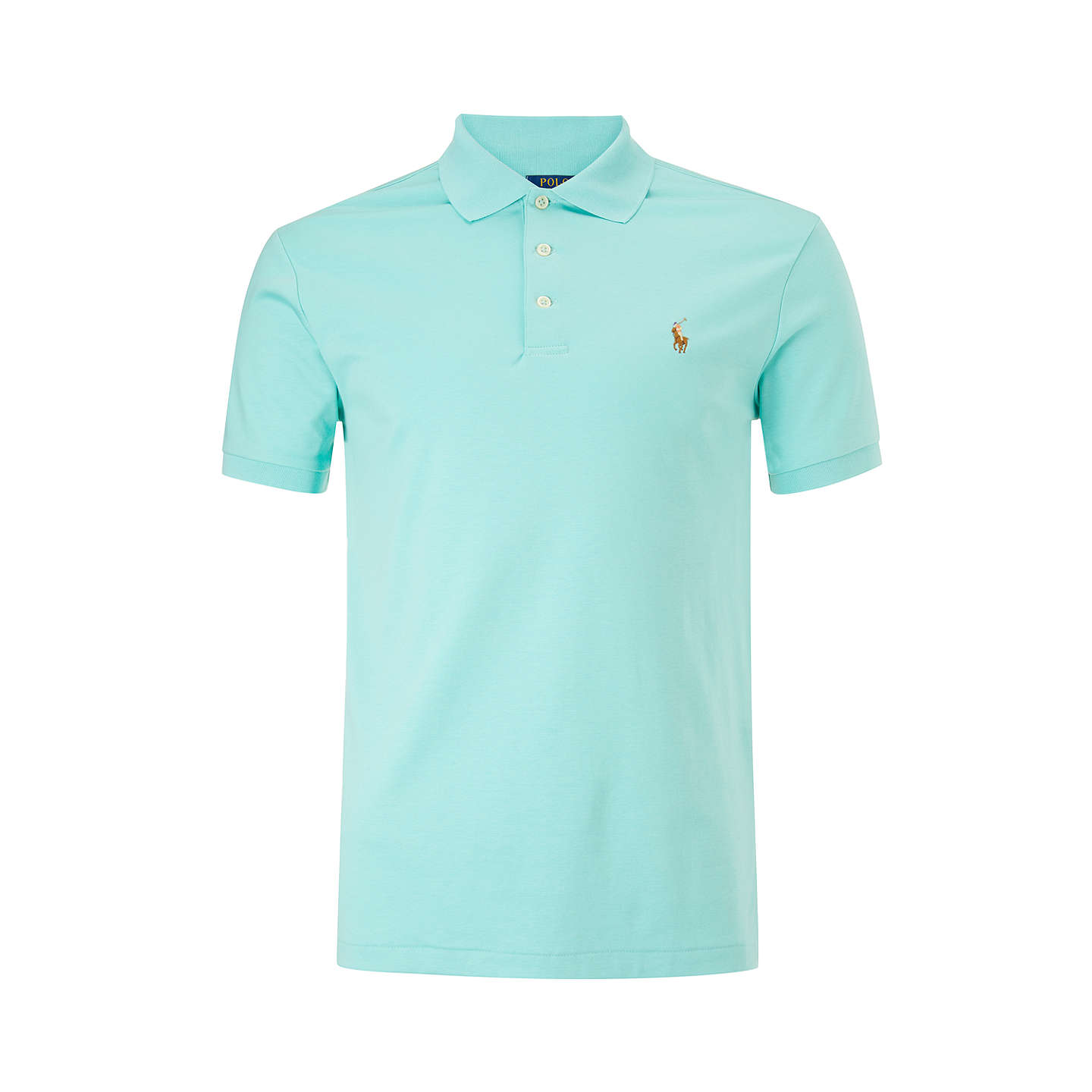 BuyPolo Ralph Lauren Slim Fit Polo Shirt, Bayside Green, S Online at  johnlewis.