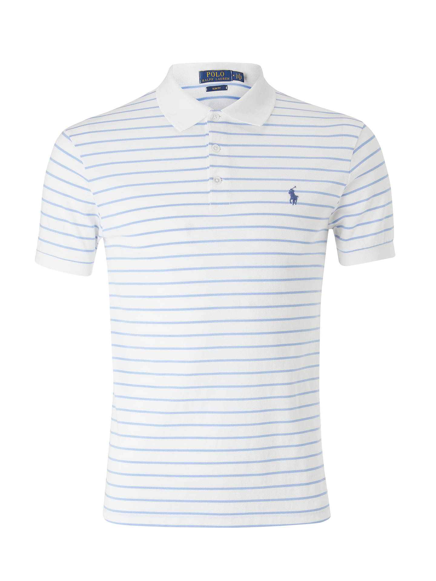 85bfe9e3 ... buy buypolo ralph lauren slim fit stretch stripe polo shirt white blue  s online 098b1 25af0