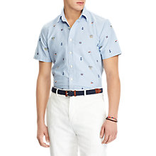 Buy Polo Ralph Lauren Short Sleeve Slim Fit Printed Oxford Shirt, Sailor Knot Online at johnlewis.com