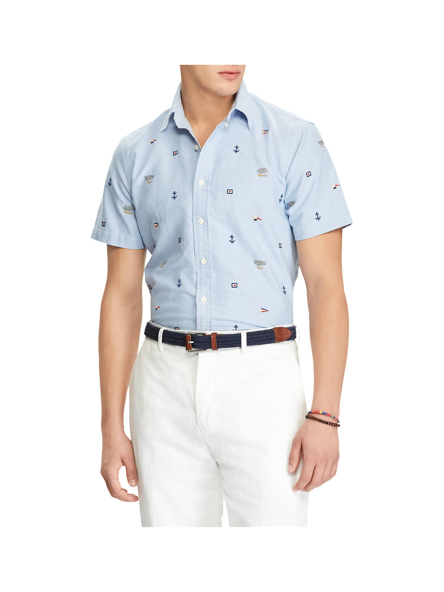 d3c5e358c060 Buy Polo Ralph Lauren Short Sleeve Slim Fit Printed Oxford Shirt