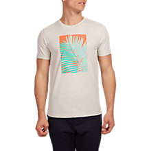 Buy HYMN Penzance Tropical Graphic T-Shirt, Off White Online at johnlewis.com