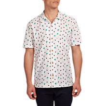 Buy HYMN Aloha Short Sleeve Printed Shirt, Cream Online at johnlewis.com